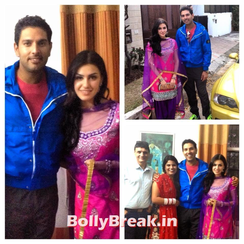 Punjabi Jatti Girl with punjabi boy yuvraj singh, Punjabi Jatti Girl Pics in Punjabi Suit