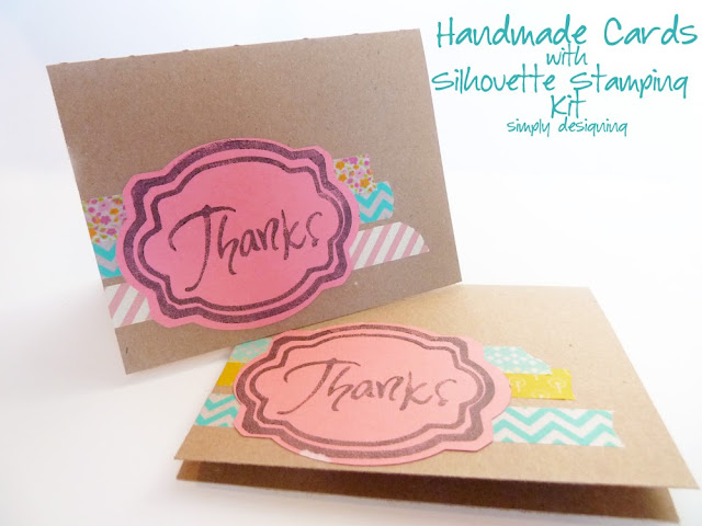 Handmade Cards with Silhouette Stamping Kit  @silhouetteamerica @simplydesigning #silhouette #cards #handmade #diy #craft #papercraft #stamping
