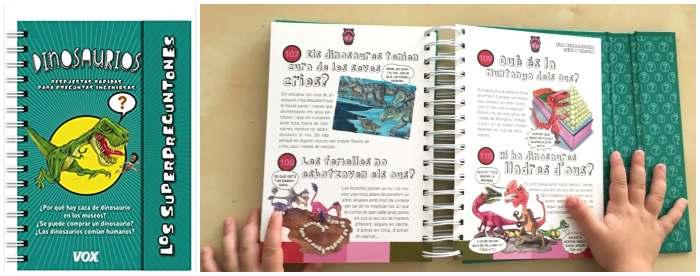 libro conocimientos informativo superpreguntones dinosaurios
