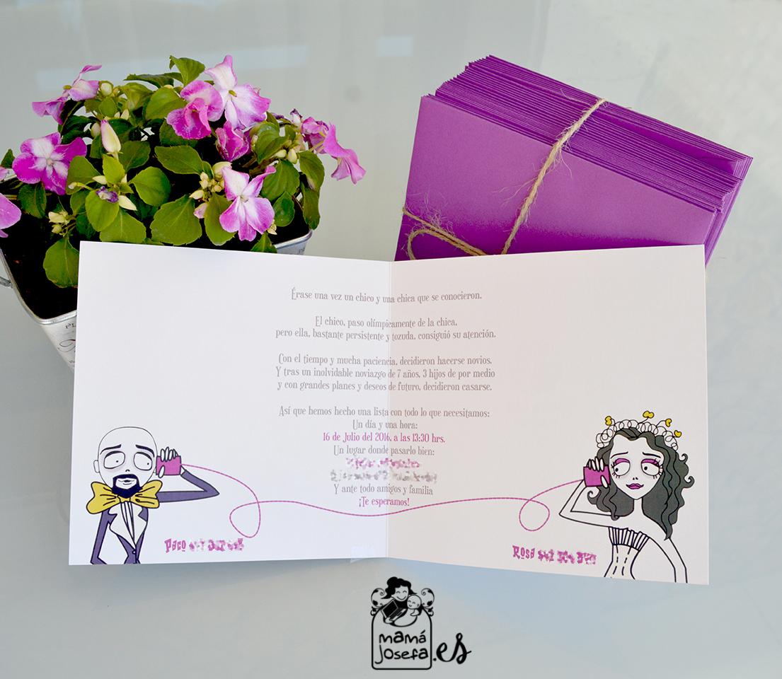 Mama Josefa Invitacin de boda La Novia Cadver