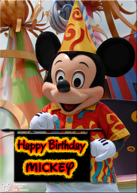 Happy Birthday Mickey Mouse!