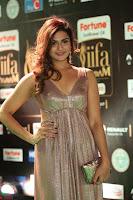 Telugu Actress Aarthi in Deep Neck Backless Golden Gown at IIFA Utsavam Awards 2017 Exclusive 44.JPG