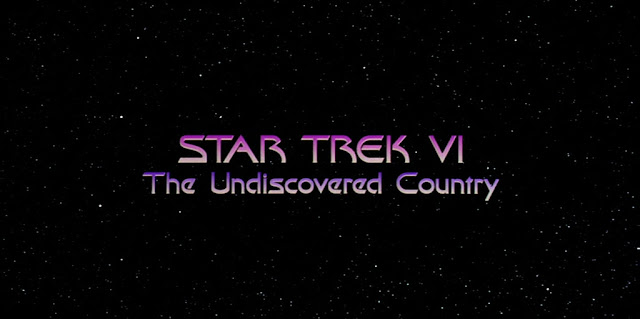 Star Trek 6 The Undiscovered Country title logo DVD