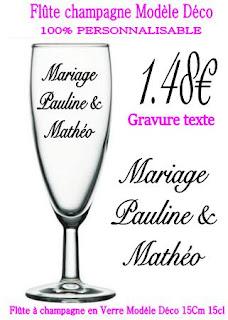 verre grav 148 euros la gravure sur verre flute pour anniversaire mariage bapteme communion entreprise noel - Gravure Sur Verre Mariage Bapteme