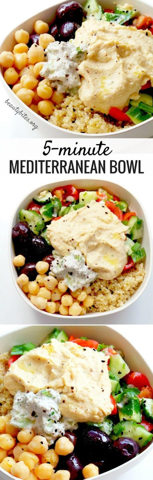 5 Minute Mediterranean Bowl – Healthy Lunch Meal Prep