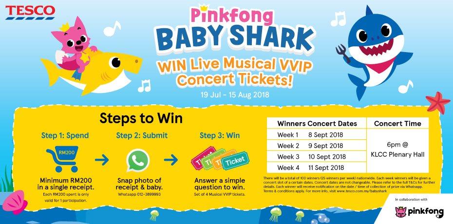 Pinkfong Baby Shark Win Live Musical VVIP Concert Tickets