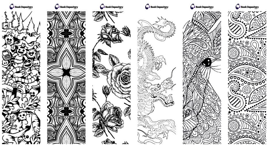 Well The Book Depository Has Me All Excited For My Next Purchase With These Free Coloring Bookmarks Theyre Stuffing In Their