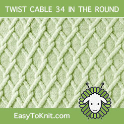 How To #Knit Trellis stitch. Easy to knit in the round.