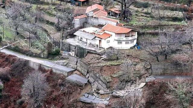 Εξαφανίστηκαν δρόμοι σε χωριά του Ταΰγετου - Καθιζήσεις οδοστρωμάτων και κατολισθήσεις (βίντεο)