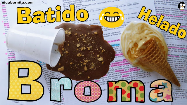 broma del helado derretido y del batido falso nicabernita