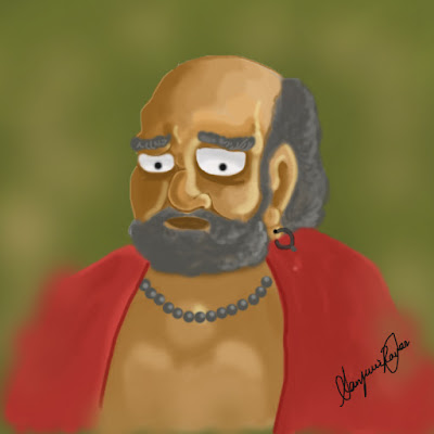 Bodhidharma - Digital painting