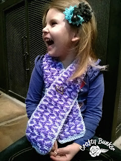 Free Ribbon Candy Scarf Crochet Pattern by Crafting Friends Designs