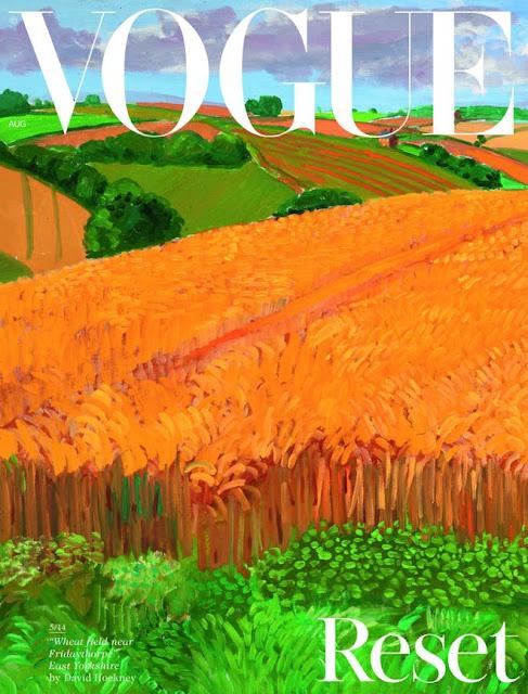 Under the heading  Reset,  British Vogue —Vogue! —has a landscape —a landscape! —on its cover.