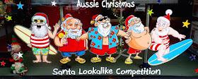 Silly Santa storefront window Laurieton New South Wales Australia