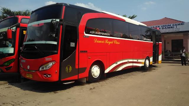 Bus Damri Bogor Lampung