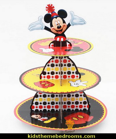 mickey mouse  party decorations  cardboard cupcake stand