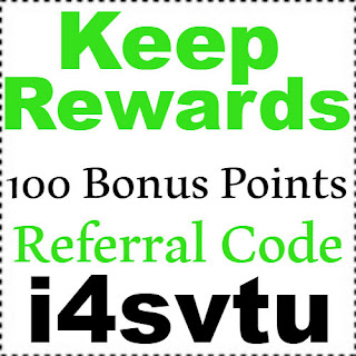 100 Bonus Points for Keep Rewards App Referral Code, Invite Code & Sign up Bonus