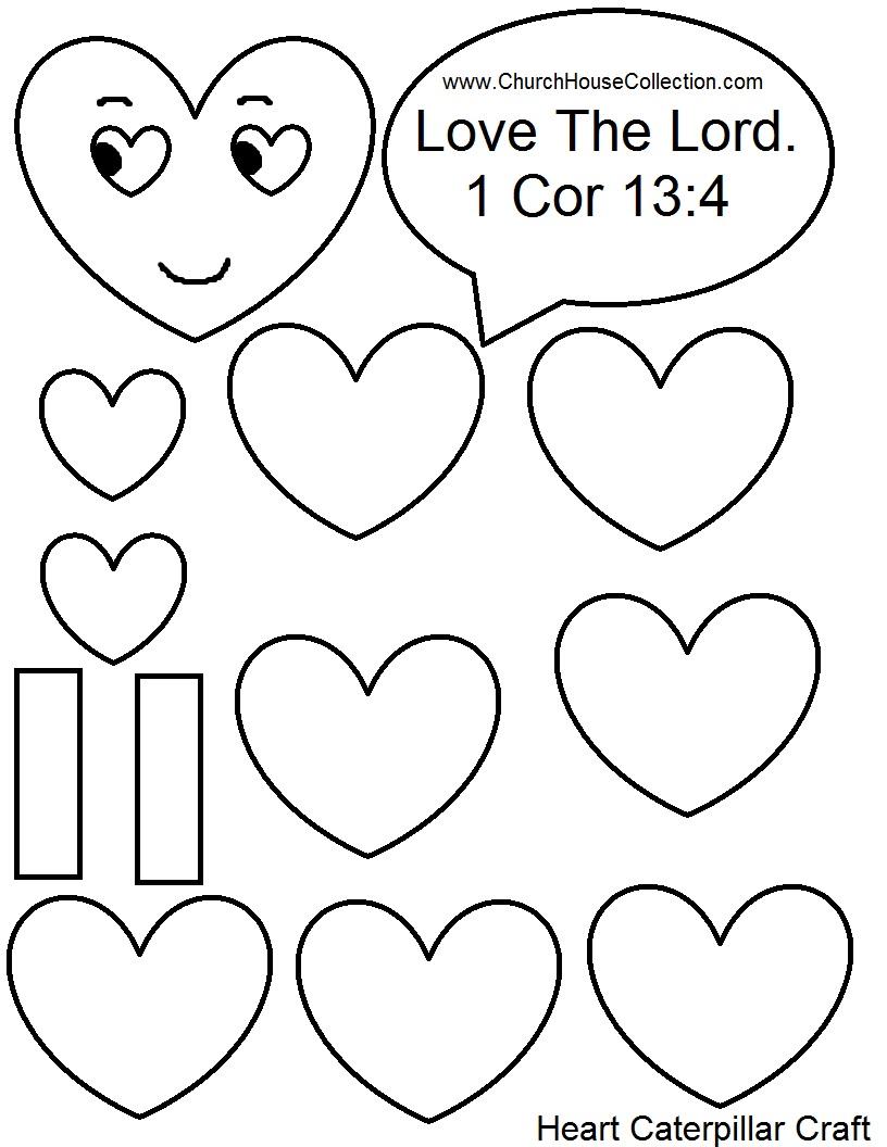 Church House Collection Blog: Heart Caterpillar Valentine