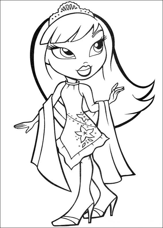 coloring pages bratz dolls - photo#9