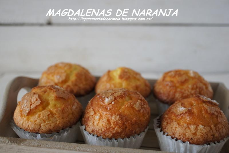 MAGDALENAS DE NARANJA (  THERMOMIX )