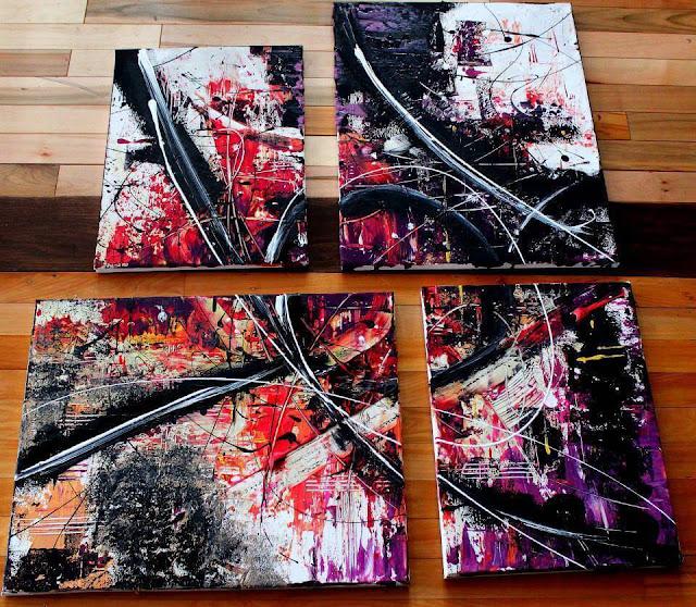 Peinture abstraite par Laura Foort