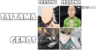 Perbandingan style grafik dan gambar Saitama dan Genos S1 (Madhouse) S2 (J.C.Staff)