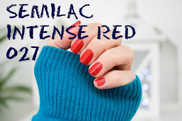 Semilac  027 UV Hybrid Semilac Intense Red