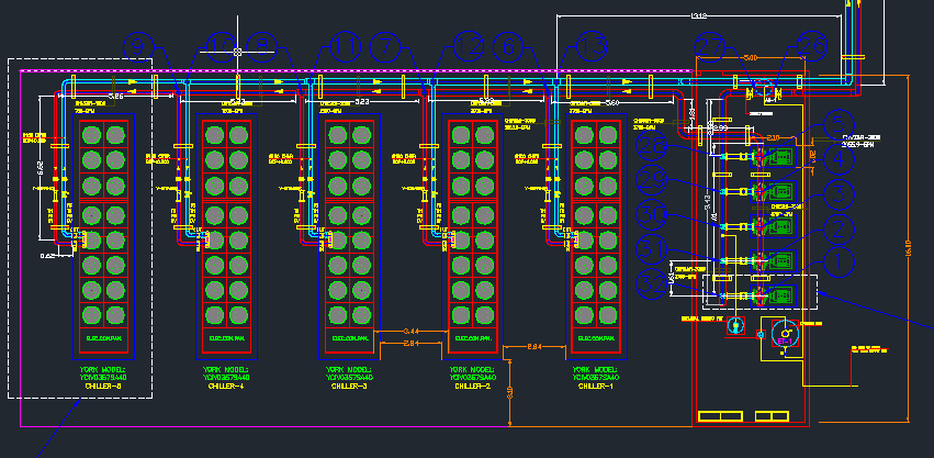 download chilled water system autocad drawings Revit Electrical Meter Revit Electrical Families