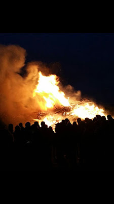 Osterfeuer in Hannover