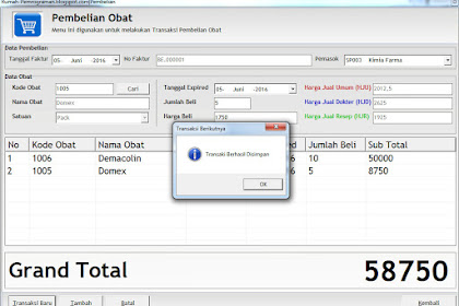Source Code Aplikasi Pembelian Barang Terlengkap di VB6