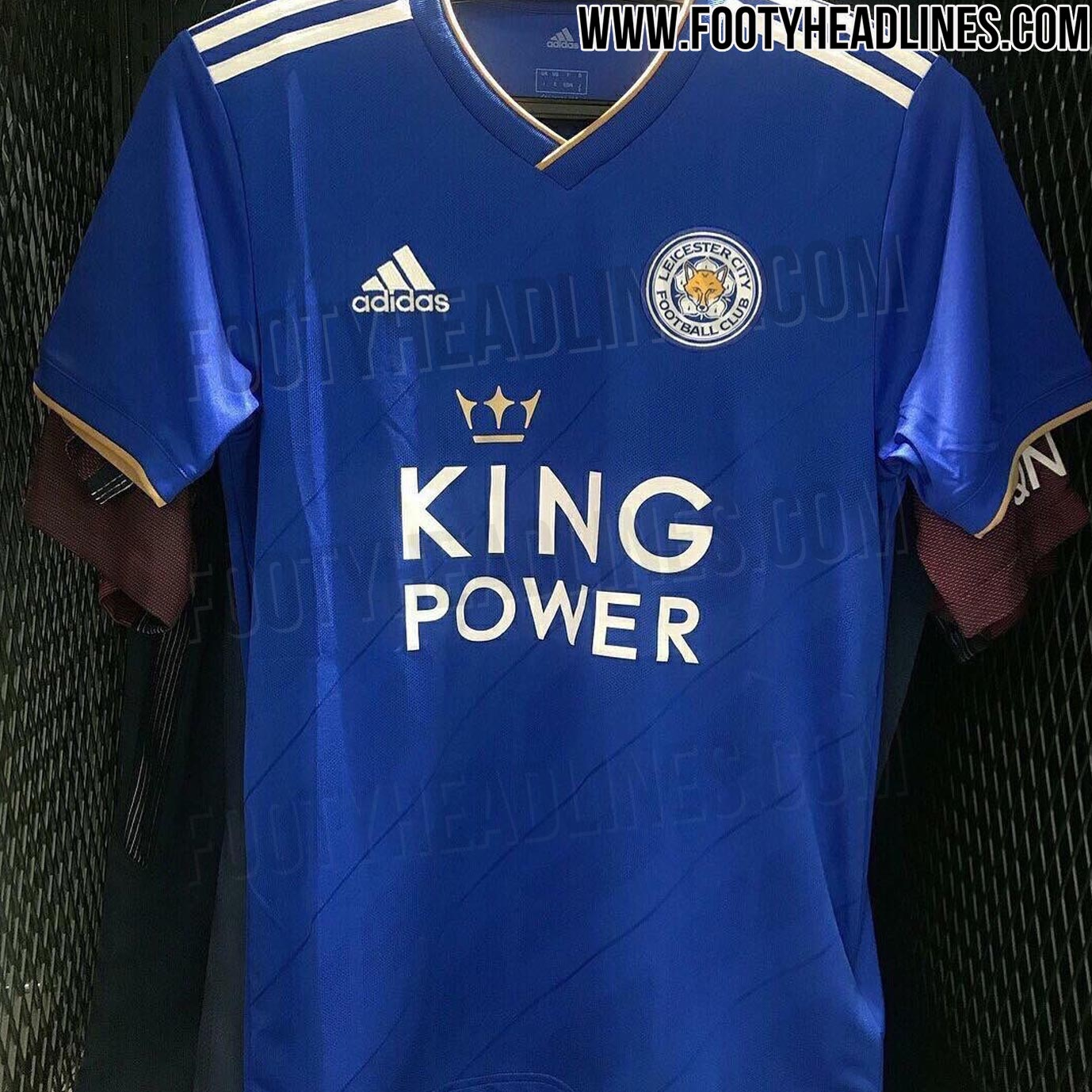 8af3191de444 The new Leicester City 18-19 home kit has been leaked. It is made for the  first time by Adidas who are replacing current kit maker Puma.