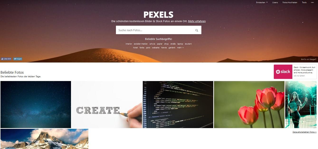 Kostenlose Stock Photos mit Creative Commons Zero Lizenz als freie Bildquellen für deinen Blog - Pexels