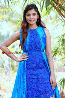 Tamil Actress Sanchita Shetty Latest Pos in Blue Dress at Yenda Thalaiyila Yenna Vekkala Audio Launch  0012.jpg