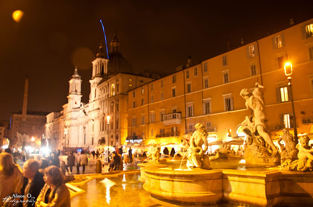 Citytrip Rome Italie de nuit Piazza Navona