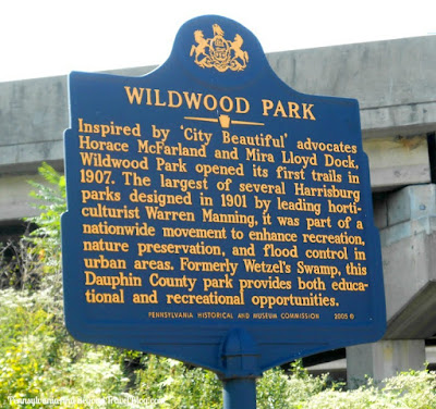Wildwood Park in Harrisburg Pennsylvania - Historical Marker