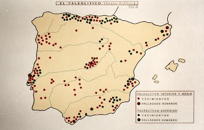 Yacimientos paleolíticos en la Península Ibérica