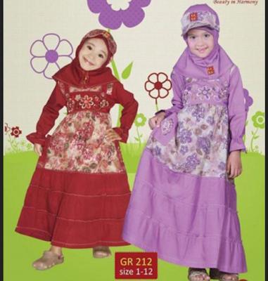 baju musim anak perempuan desain beauty and harmony
