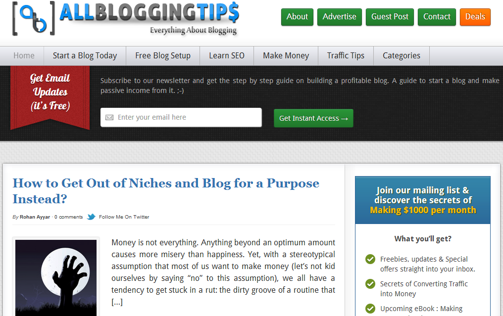 blogging tips and widgets