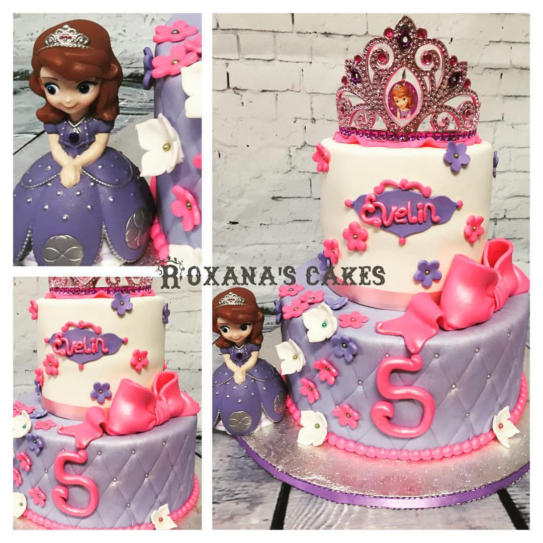 Incredible Baking With Roxanas Cakes Sofia The First Birthday Cake Funny Birthday Cards Online Overcheapnameinfo