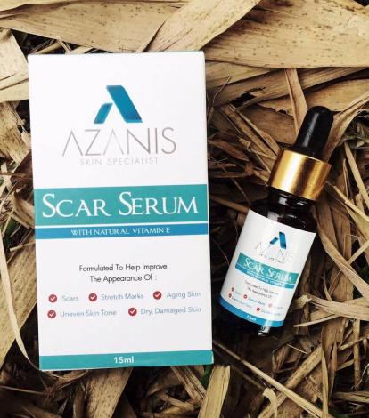 azanis scar serum hilangkan parut