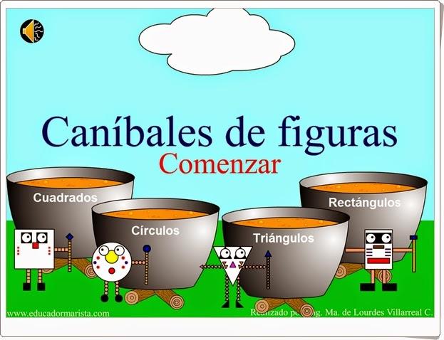 """""""Caníbales de figuras"""" (Juego de Figuras Planas)"""