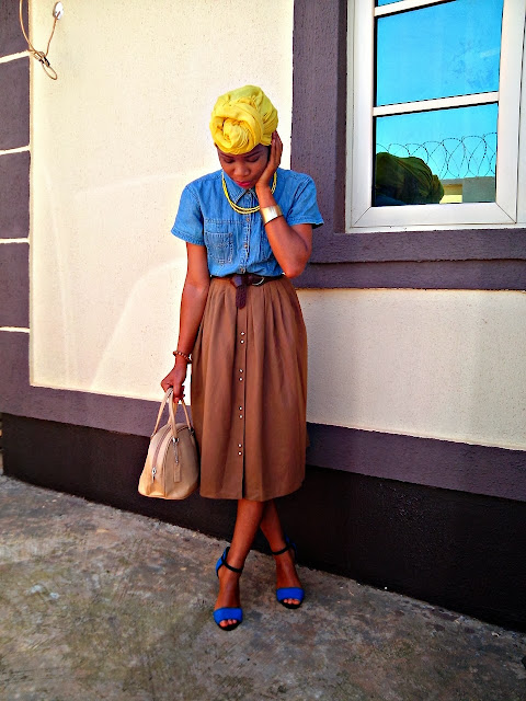 MONDAY #OOTD! YELLOW HEADWRAP