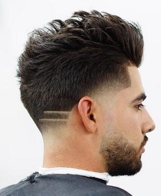 model rambut belah pinggir pria