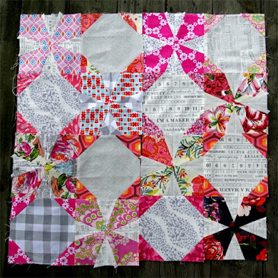 Wanna Fanta, The Bee Hive, Orange Peel block, patchwork block, quilting bee