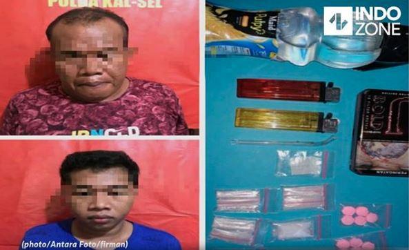 Parah, Ayah Dan Anak Asal Banjarmasin Ditangkap Petugas Hisap Sabu Bareng