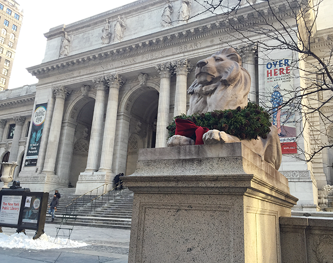NYPL, New York Public Library Fifth Avenue, New York Public Library lions