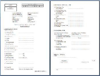 Format S-1 PPDB/PSB Sekolah Dasar