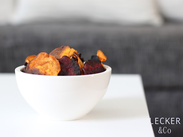 Foodblogger, lecker, Blog, Foodblog, Yummy, selbstgemacht, homemade, Blogger, Tina, Snacks, Chips, Gemüsechips, Gemüse, Rote Beete, Süßkartoffel, Snack, Knabberei, Gesund, healthy