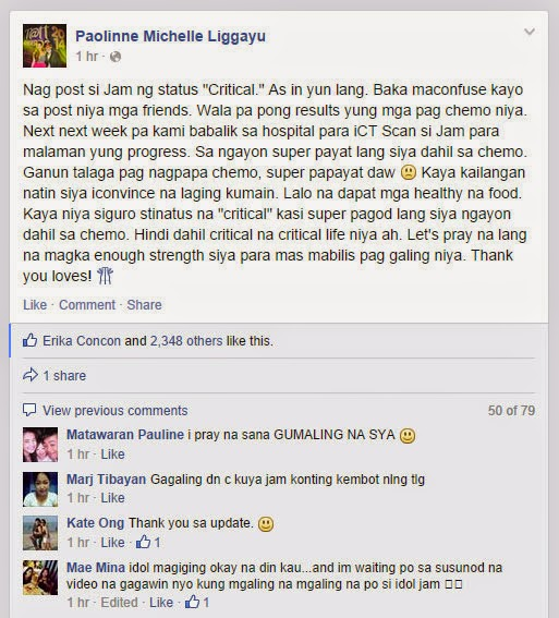 Mich explains Jam's Facebook post