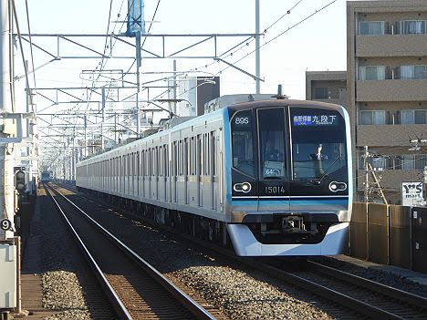 東京メトロ東西線 各駅停車 九段下行き5 15000系(平日1本運行)